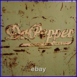 Vintage 1950s All Metal Dr. Pepper Cooler RARE