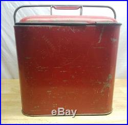 Vintage 1950s Buddy Pleasure Chest Metal Ice Chest Carry Cooler withDrain Spout