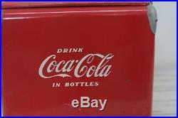 Vintage 1950s Coca Cola Coke Cooler Metal Cooler