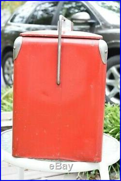 Vintage 1950s Coca Cola Coke Cooler Metal Ice Chest Cooler Tray Insert Embossed