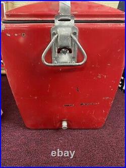Vintage 1950s Coca-Cola Metal Cooler with Bottle Opener