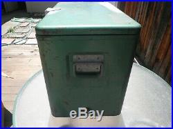Vintage (1950s) Green Metal Coleman Cooler