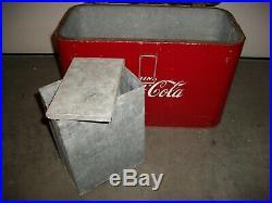 Vintage 1950s Metal Coca Cola Cooler by Progress Refrigerator Co