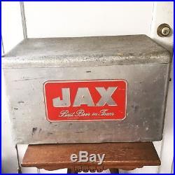 Vintage 1950s Metal JAX BEER Cooler, Ice Chest