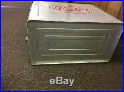 Vintage 1950s PEPSI COLA Soda Pop Metal Cooler with Tray