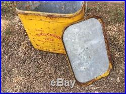 Vintage 1950s RC Royal Crown Picnic Cooler Embossed Metal Rusty with Lid