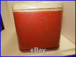 Vintage 1960's it's the real thing Coke Coca-Cola Metal Ice Chest by Thermos