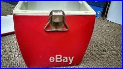Vintage 1960s Plastic & Metal Coca-Cola Cooler Antique Coke Embossed Ribbed