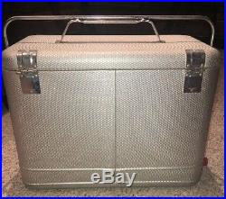 Vintage 1960s THERM-A-CHEST SILVER Aluminum COOLERKNAPP MONARCHDrain PlugMINT
