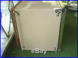 Vintage 1969 Coleman Metal Cooler Two Tone Brown/Tan