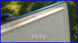 Vintage 1970s Coleman Blue Metal Chest Cooler 22x16x13 Double Openers