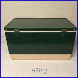 Vintage 1979 Green Metal Coleman Cooler 28 Across Ice Chest 70 Qt Snowlight