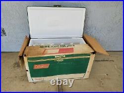 Vintage 1980 Large Green Metal COLEMAN Cooler / Ice Chest 80 Quart Rare