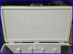 Vintage 1987 Gray Metal Coleman Steel Belted 80 Qt Cooler Large