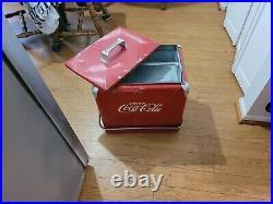 Vintage 50s Coca-cola metal cooler collectible