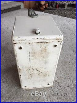Vintage 7 Up Soda Metal Cooler VTG Coca Cola