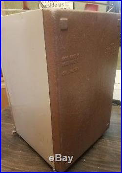 Vintage 70's Coleman Convertible Upright Metal Ice Chest Box Cooler Refrigerator