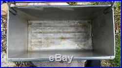 Vintage Aluminum Metal Schmidt Beer Ice Cooler Picnic Nice