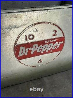 Vintage Antique Drink DR Pepper 10-2-4 Metal Ice Chest Cooler
