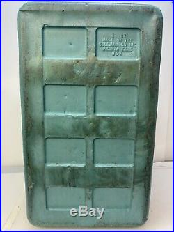 Vintage Aqua Coleman Diamond Logo Snow Lite Cooler 3 62 Aluminum 1960's