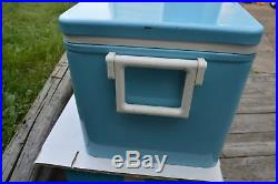 Vintage Baby Blue Coleman Cooler Sno-Lite Low Boy Model 5243A720 with Box