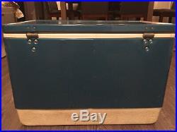 Vintage Blue Coleman metal cooler