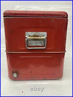 Vintage Budweiser Cooler, 1950's Metal Original Wood Rack, And Gaskets RARE