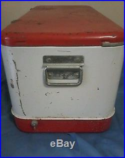 Vintage Budweiser Metal Cooler Measures 27 1/2 W x 13 D x 13 H -1950's Era