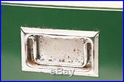 Vintage COLEMAN COOLER Original Box metal ice chest Snow-Lite 10.5 GALLON green