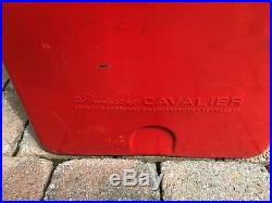 Vintage Cavalier Red Drink Coca-Cola In Bottles Metal Cooler with opener & drain
