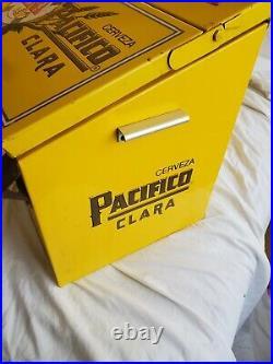 Vintage Cerveza Pacifico Clara Metal Beer Cooler Ice Chest