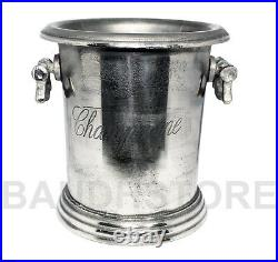 Vintage Champagne Wine Bucket Metal Bar Cooler Ice Bucket