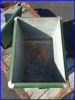 Vintage Coca Cola Coke Cooler Ice Tray Box Metal Lid Chest Action MFG Co