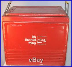 Vintage Coca-Cola Cooler Progress Refrigerator Comp. Metal Cooler Nice