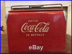 Vintage Coca-Cola Cooler by Acton Mfg. Co. Coke Metal Cooler VW Antique Rare