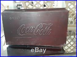 Vintage Coca Cola Metal Airline Cooler RARE