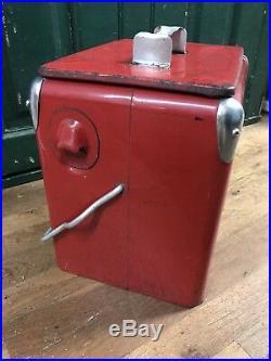 Vintage Coca-Cola Metal Cooler