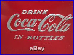 Vintage Coca Cola Metal Cooler 1950's