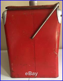 Vintage Coca-Cola Metal Cooler Red Bottle Opener Tray Lid 40's/50's Arkansas Cit