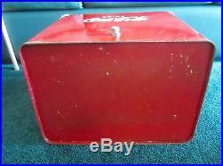 Vintage Coca Cola Metal Cooler Temprite Mfg Co Kansas USA