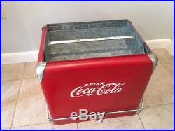 Vintage Coca Cola Metal Cooler With Tray Bottle Opener And Spigot
