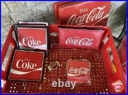 Vintage Coca Cola Metal Cooler + plus many other Coke Brand Items (LOCAL PICKUP)