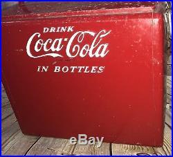 Vintage Coca-Cola Metal CoolerDrink Coca Cola In BottlesRusty Corroded Old