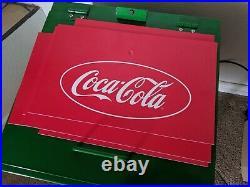 Vintage Coca-Cola Metal Rolling Cooler (Rare)
