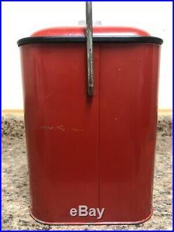 Vintage Coca Cola Progress A4 Embossed Metal Cooler W Tray