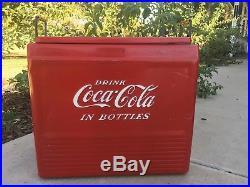 Vintage Coca-Cola Progress Refrigerator Comp. Metal Cooler RARE! Bottle Opener