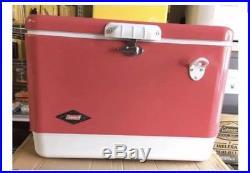 Vintage Coleman 54 Quart Steel Belted Cooler Rose Pink Special Edition New