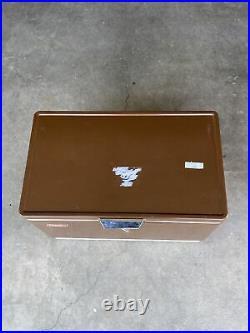 Vintage Coleman Brown Metal Cooler 1970s -VERY NICE. Please Read