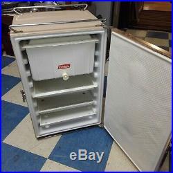 Vintage Coleman Camper Ice Box Cooler Refrigerator