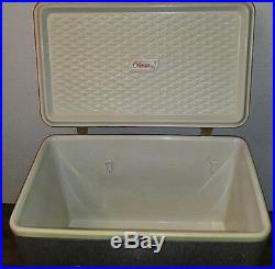 Vintage Coleman Cooler Chest Diamond Logo Red & Silver Nice